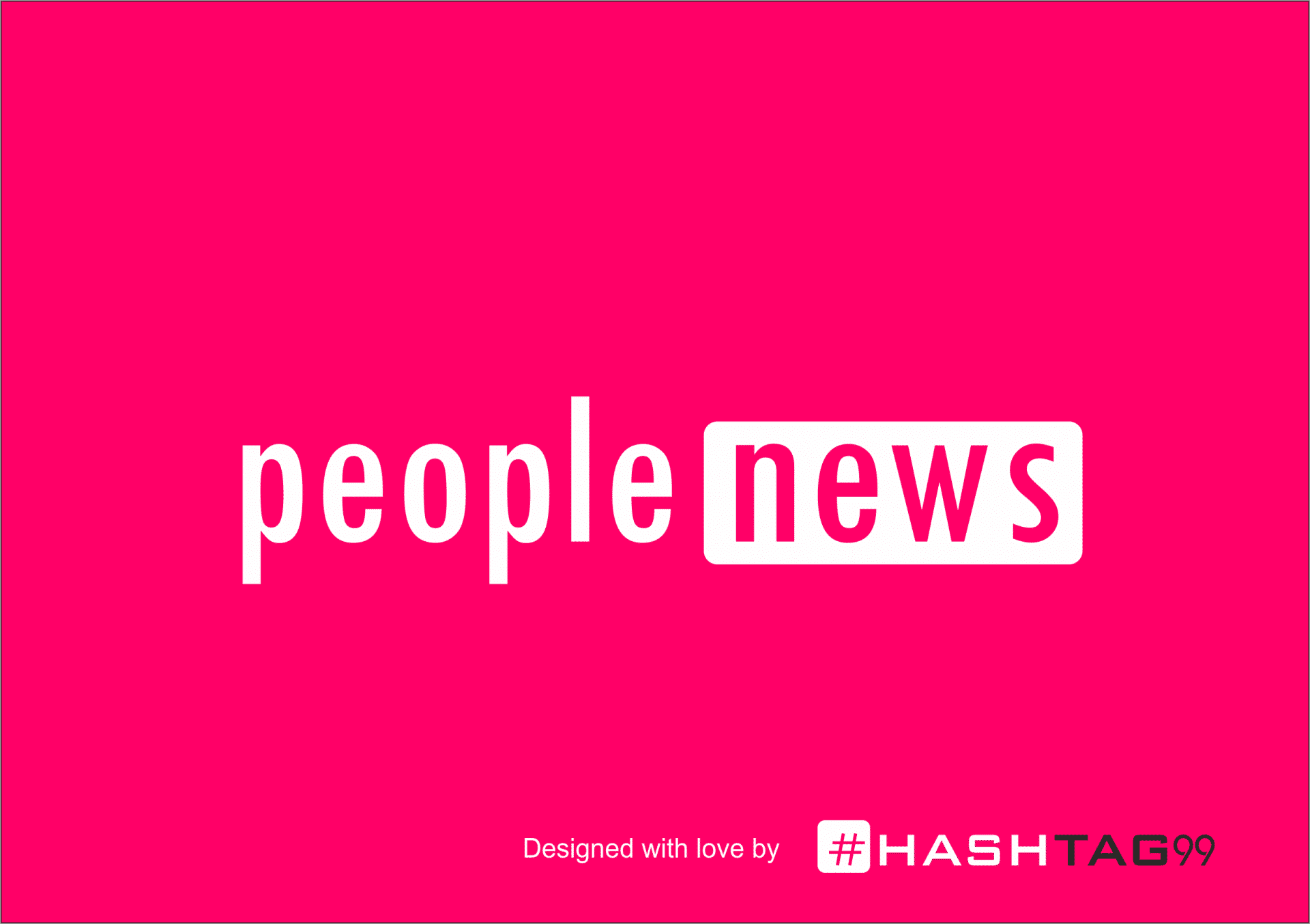 People news logo design red